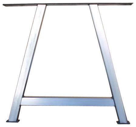 Dining Table Leg Frame Distressed Steel A Frame Metal Table Legs Set Diy