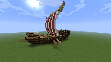 minecraft viking boat viking ship minecraft project