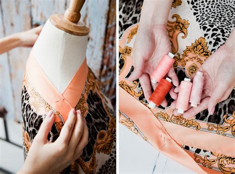 diy silk scarf dress