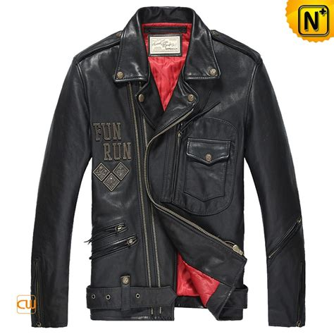 mens black leather motorcycle jacket mens black leather biker jacket cw850214