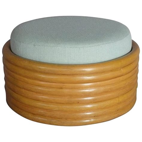 bamboo ottoman stacked bamboo ottoman or pouf in the style of paul frankl