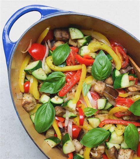 chickpea ratatouille recipe vegan  simple