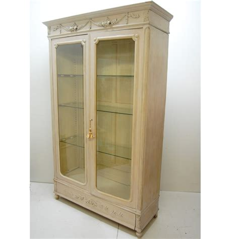 antique french armoire bookcase display cabinet 262160