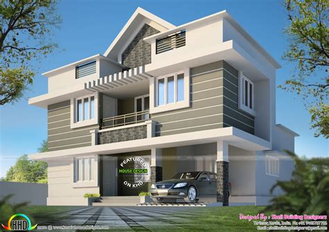 3bhk Home Design | 1530 square feet 3 bhk house plan kerala home design and
