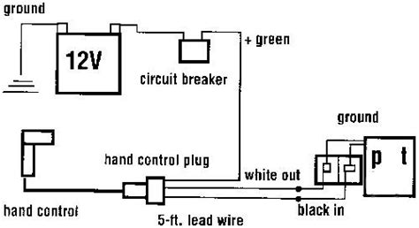 mile marker winch wiring diagram mile marker 12 000 lb winch installation