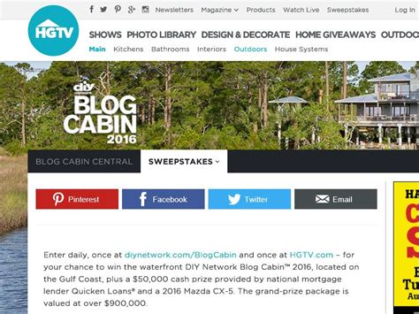 Diy Network Home Giveaway - diy network blog cabin giveaway sweepstakes