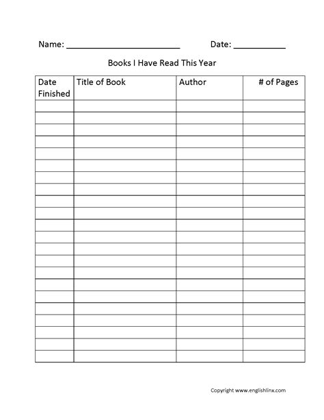 printable reading log with summary free printable reading logs with parent signature best