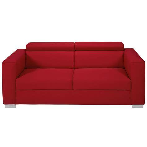 poggiatesta divano divano con poggiatesta 3 posti rosso in tessuto jazz