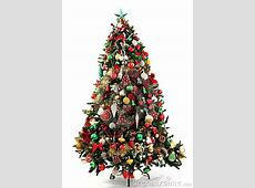 Christmas Tree Green, Red And Gold Royalty Free Stock ... Free Clipart Of Christmas Tree