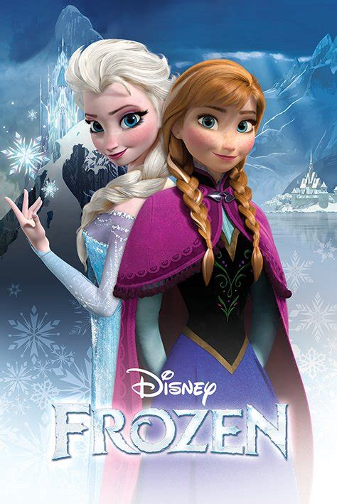 film elsa and anna frozen disney movie poster print anna elsa
