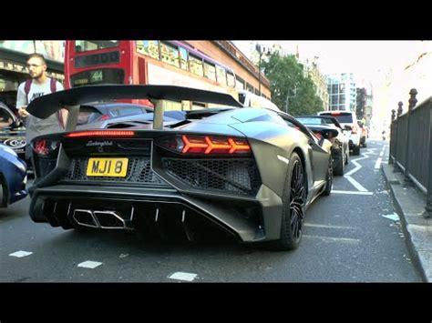 lamborghini aventador sv roadster exhaust loud powercraft exhaust aventador sv roadster in london youtube