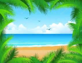 tropical beach background stock vector 5561642