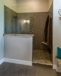 Bathroom Walls No Tiles This Master Bathroom Features A Walk In Shower With A