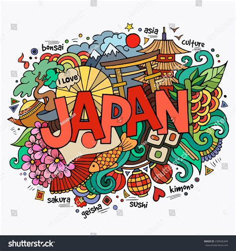 doodle japan japan lettering and doodles elements background