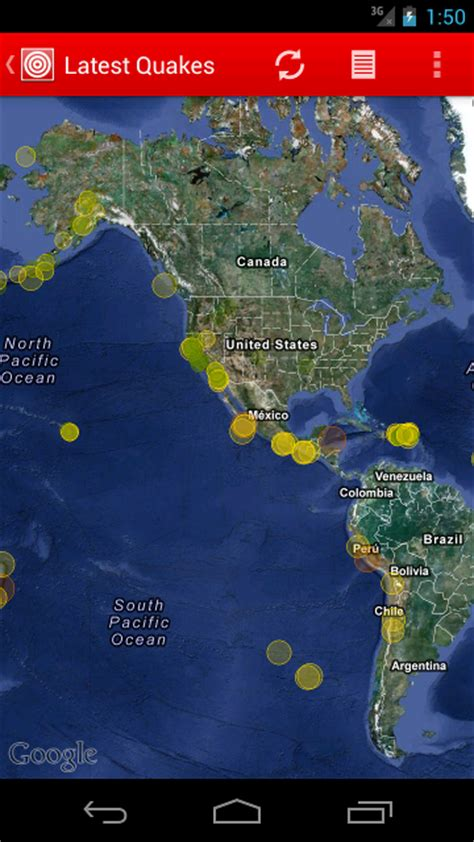 recent earthquakes map quakes for android get the earthquake