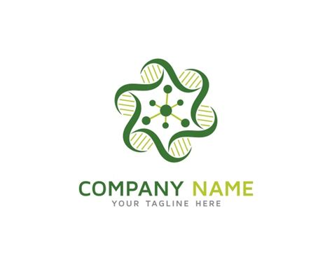 green geometric logo design premium vector
