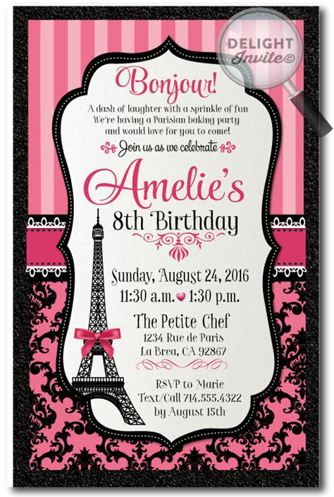free printable birthday cards in french parisian french paris birthday invitations di 685