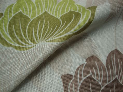Roma Upholstery Fabric by Roma Lime Curtain Fabric Bold Floral Print