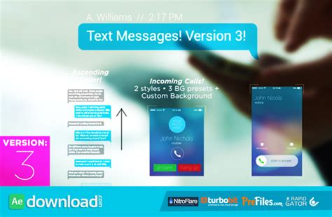 Text Messages Videohive Project Free Download Free After Effects Template Videohive Projects Text Message After Effects Template