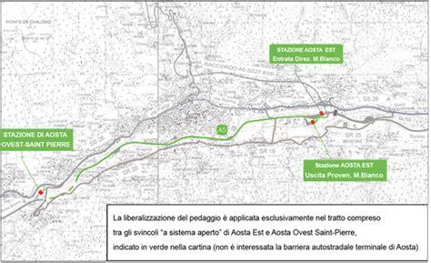 banche convenzionate telepass gratuita passaggio sulla tratta autostradale aosta