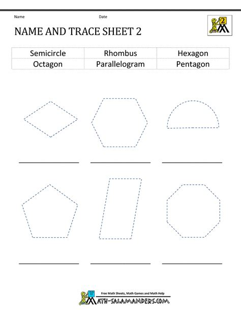 free printable identifying shapes worksheets 2d shapes worksheets 2nd grade
