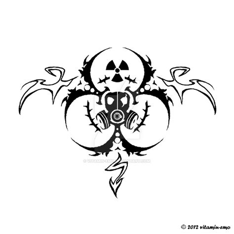 emo tattoo ideas toxic tatoo design by vitamin on deviantart