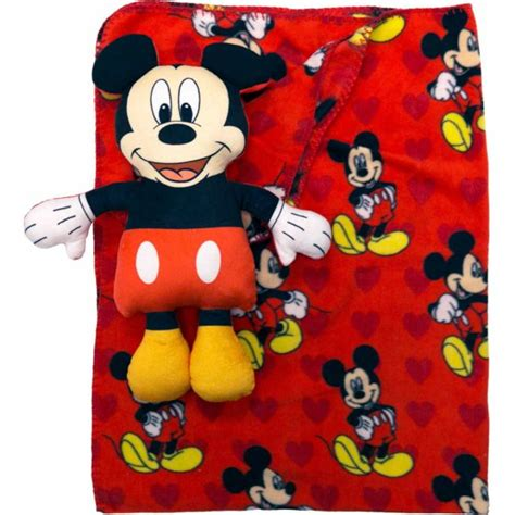 mickey mouse pillow and blanket set disney mickey mouse character pillow and throw set