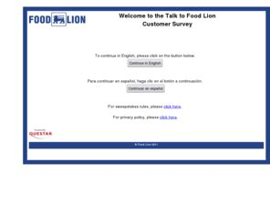 Www Talktofoodlion Com Sweepstakes - talktofoodlion com food lion guest satisfaction survey