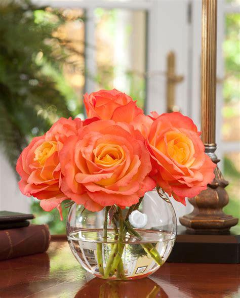 Cylinder Vase Centerpiece Shop Lifelike Rose Nosegay Silk Flower Arrangement At Petals