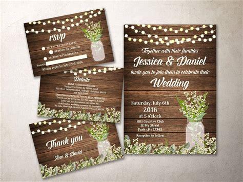 printable wedding invitation kits rustic wedding invitation kit printable barn wedding