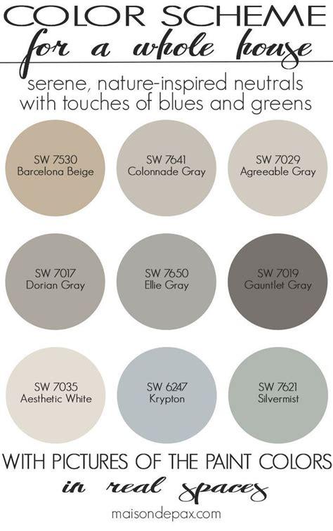 whole house color palette best 2244 paint whole house color palette images on
