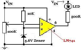 zener diode y4 big bird knowledge 12 volt battery low indicator lm741