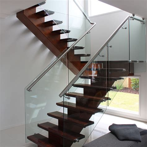Buy Stair Railing Custom Design Stainless Steel Tubular Glass Clear Stair
