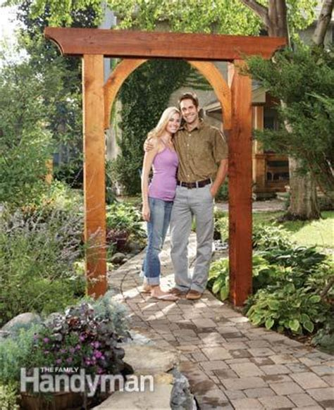building an arbor trellis build a garden arch the family handyman