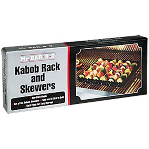 kabob rack mr bar b q 174 kabob rack skewers big lots