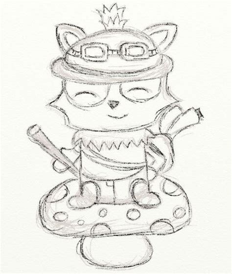 Grey Outline League Of Legends by Image Gallery Teemo Drawing