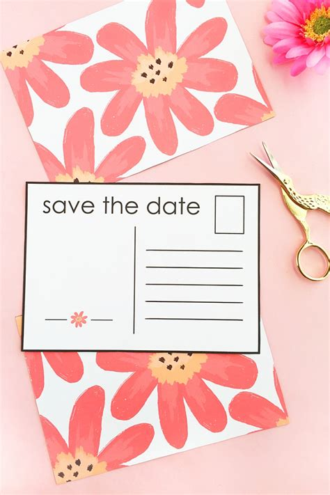 make my own save the date cards diy floral save the date postcardsmaritza