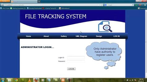 tracking system php project file tracking system 2016