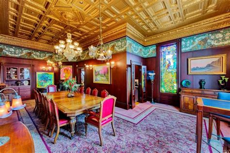 beautiful formal dining room  victorian era built house