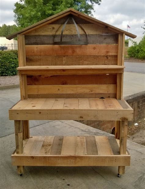 potting bench woodworking plans 1000 images about pallet potting benches on pinterest