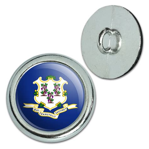 metal craft sewing novelty buttons set of 4 state flag