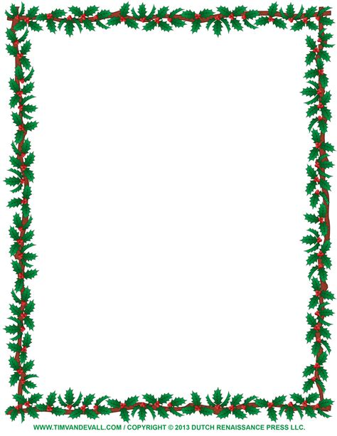 Free holly clip art border and christmas decoration images