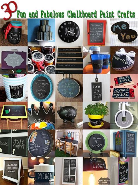 chalkboard paint craft projects 30 things to make with chalkboard paint about family crafts