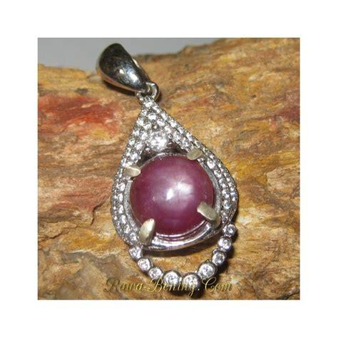 Liontin Ruby Silver 925 liontin batu mulia ruby 6 00 carat silver 925 model