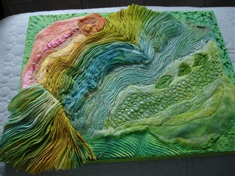 the textile artist the of felting and silk ribbon embroidery books fiberart silk shibori color shibori borealis pleated