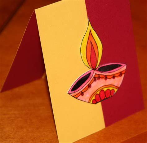 Handmade Diwali Greeting Cards - diwali greeting card ideas family net