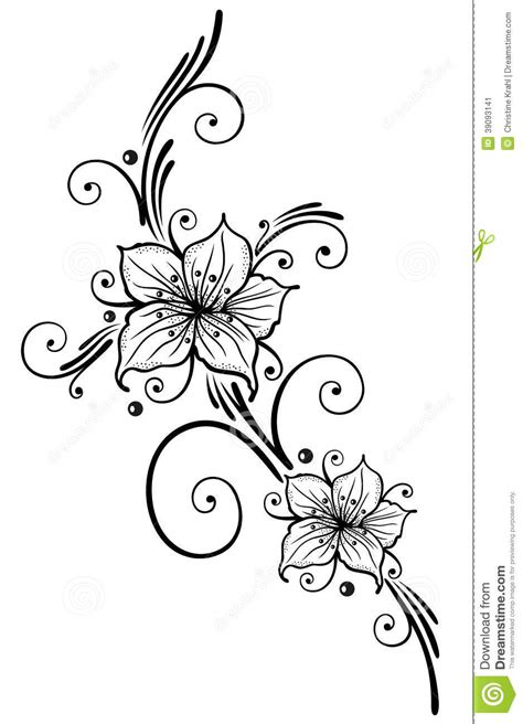 lilien blumen vektor abbildung bild 39093141