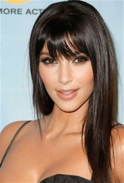 haircut for round face long hair with bangs long hairstyles with bangs for round faces