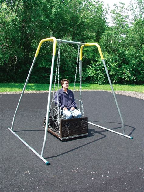 handicap swing ada wheelchair swing pro playgrounds the play