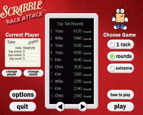 scrabble rack attack free play free scrabble rack attack play scrabble